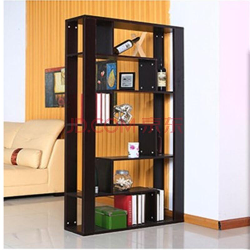 佰益翔 客厅双面隔断柜门厅柜玄关柜酒柜 简易书柜书架 柜子 黑胡桃色