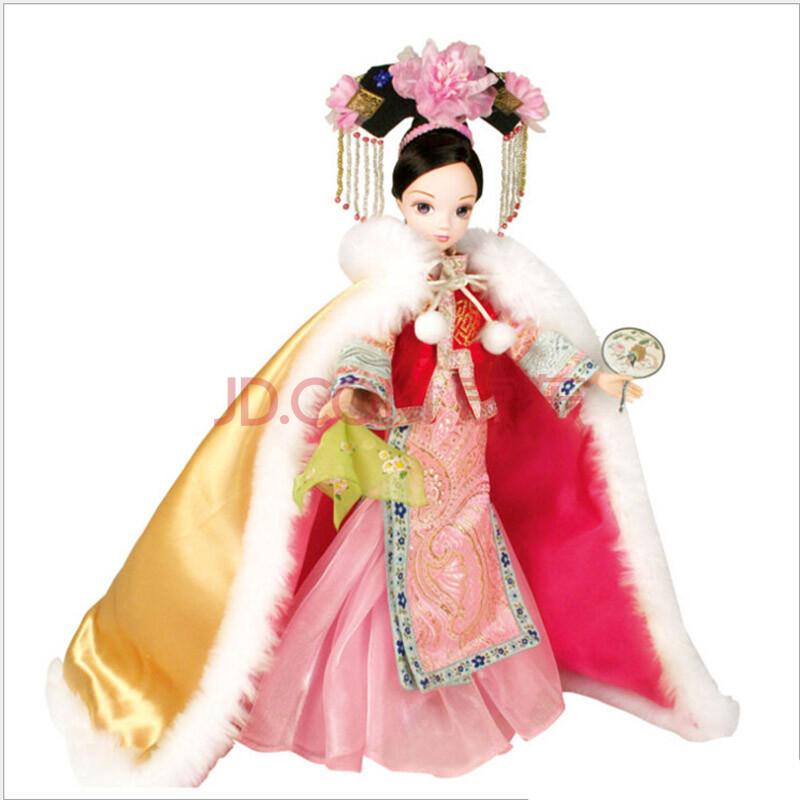 可爱卡通 洋娃娃芭比娃娃女孩玩具礼物创意摆件 古装明珠格格生日礼物