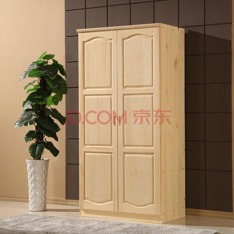 索格家具 实木衣柜 松木衣柜 两门圆弧衣柜 卧室储物柜 全实木图片