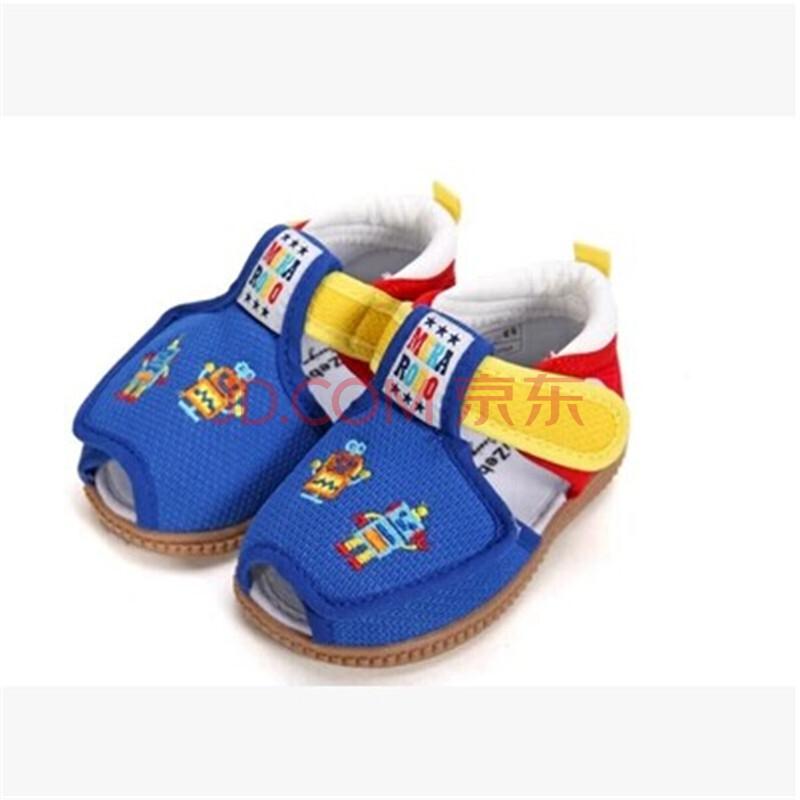 夏儿童凉鞋宝宝学步鞋 女款婴儿鞋0 1岁软底 男叫鞋响 婴儿鞋帽袜