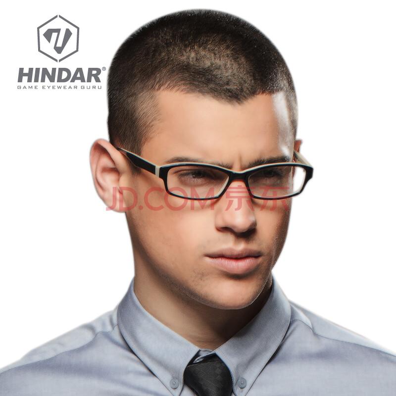 hindar时尚板材眼镜架 男 近视镜商务休闲眼镜框男士近视眼镜架hma01图片