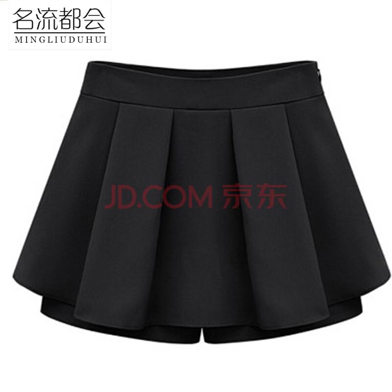 蕾丝短裤夏黑色
