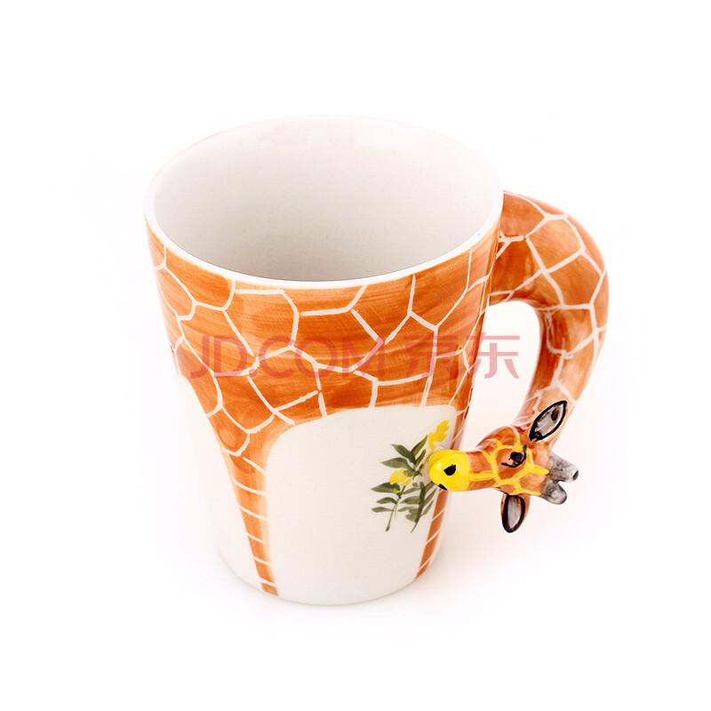 玩者 纯手绘陶瓷动物杯 家居创意水杯 可爱陶瓷杯子 单品特价促销