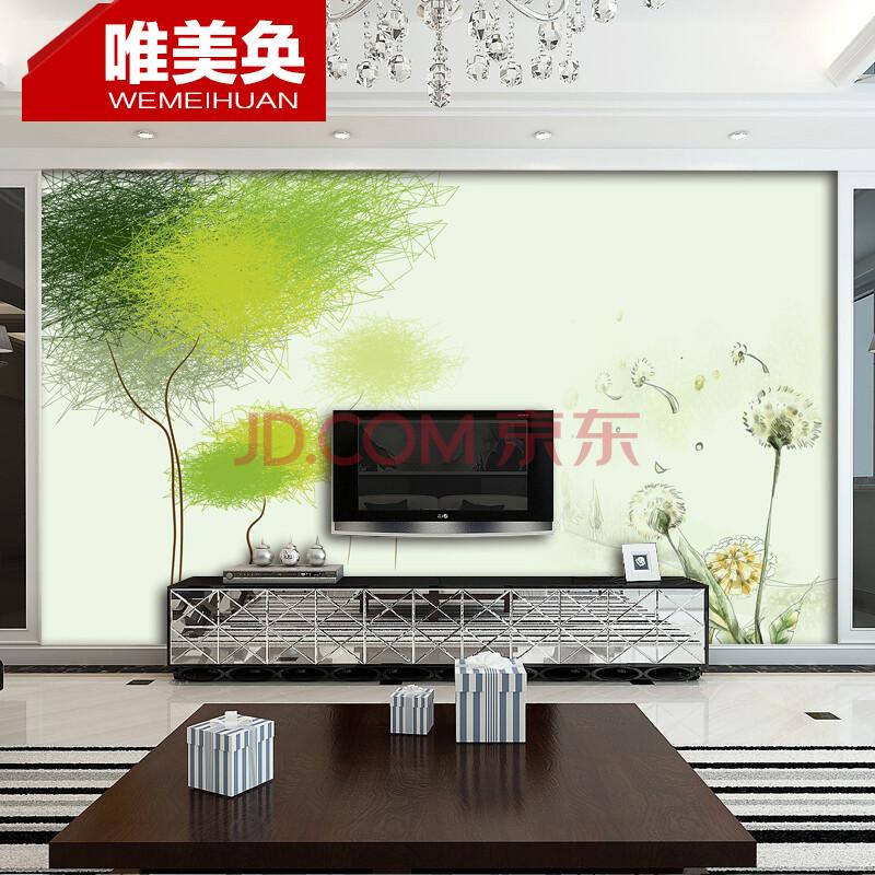 抽象树蒲公英sm1477电视背景墙壁纸 客厅沙发卧室影视墙 德国环保鳄鱼
