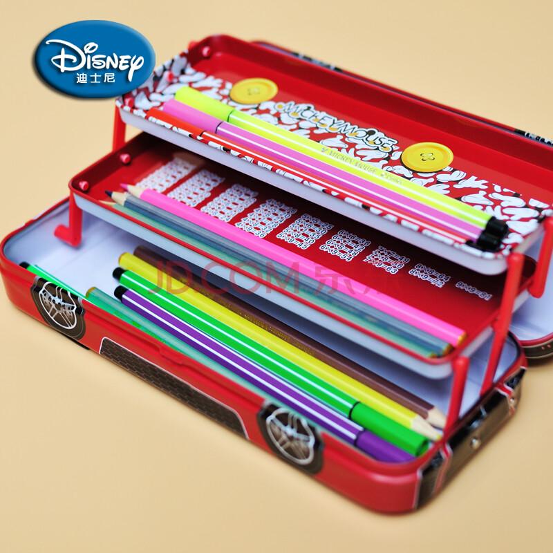 三层 汽车文具盒 铅笔盒 多功能 韩版 可爱 创意 笔盒 黄色图片
