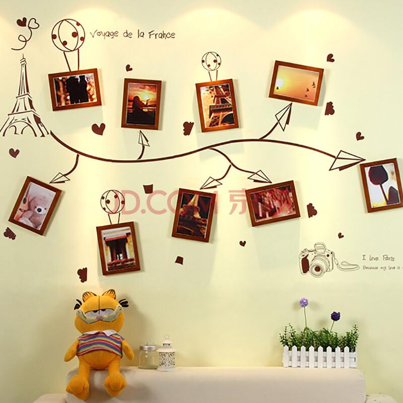实木照片墙相框墙欧式客厅卧室挂墙相框