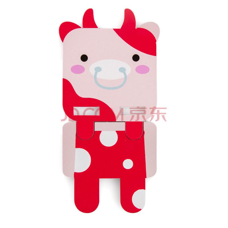 简家 卡通手机座 可爱方形动物木质通用桌面手机座 创意卡通懒人手机