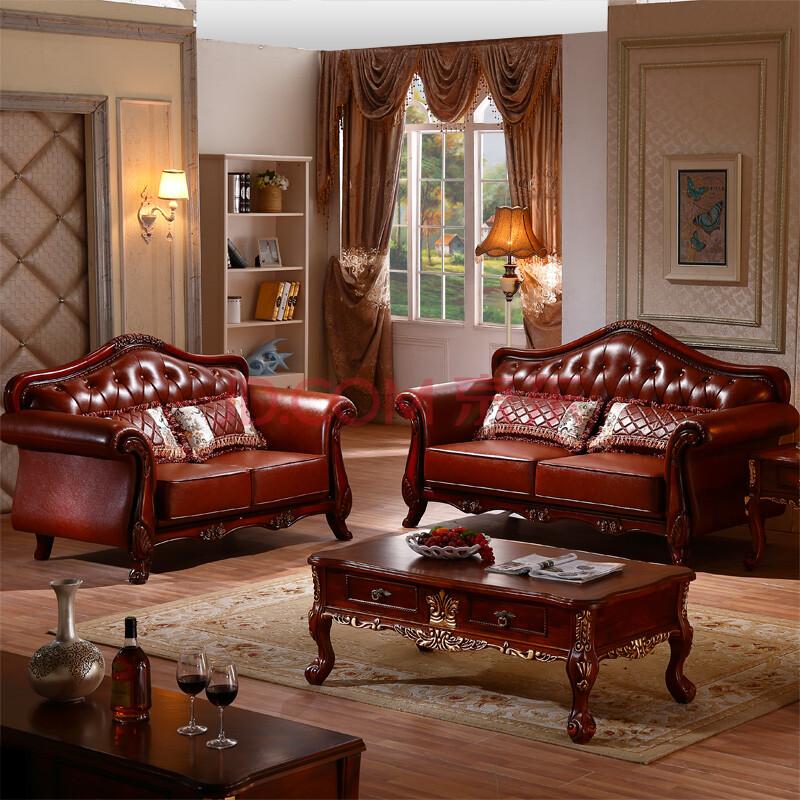 蒂御轩 欧式沙发 古典美式沙发 法式沙发 客厅实木沙发 纯手工雕刻图片