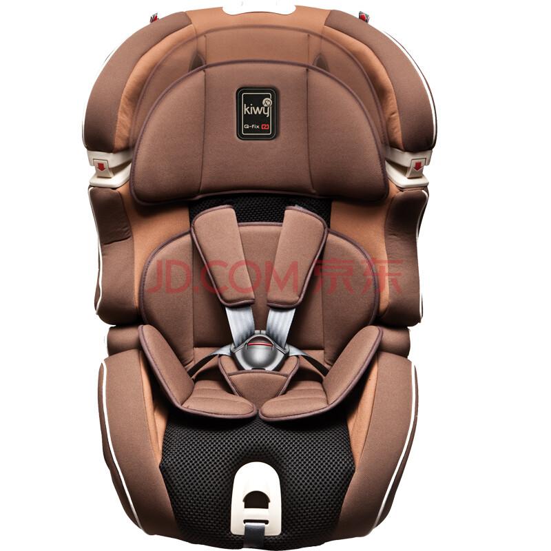 纯进口Kiwy无敌浩克车载宝宝婴儿儿童汽车安全座椅9月-12岁Isofix 摩卡棕