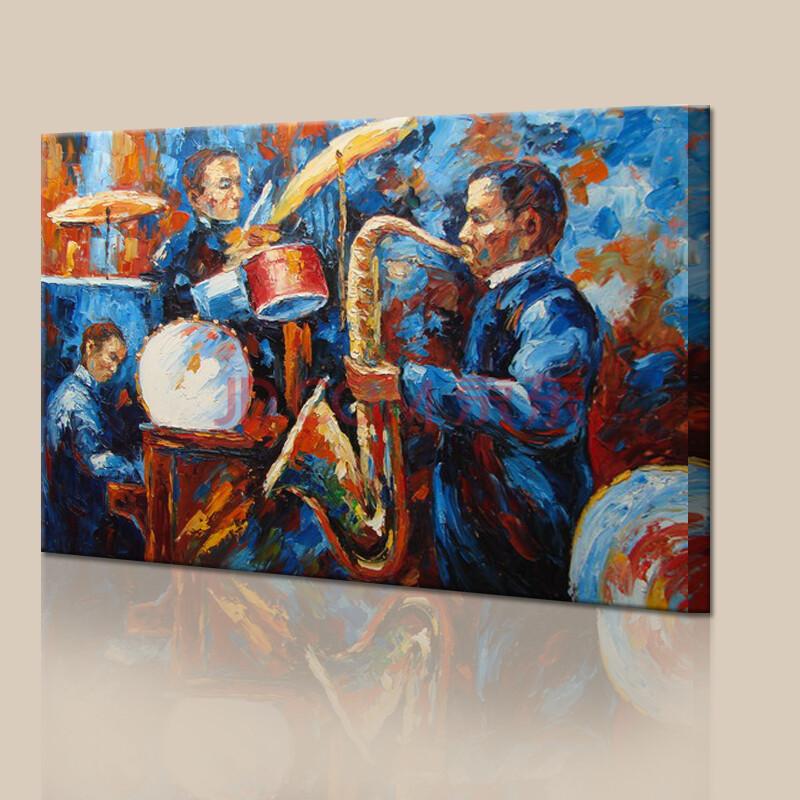 山迪 手绘油画装饰画客厅餐厅壁画玄关挂画墙画无框画花卉 音乐c90x