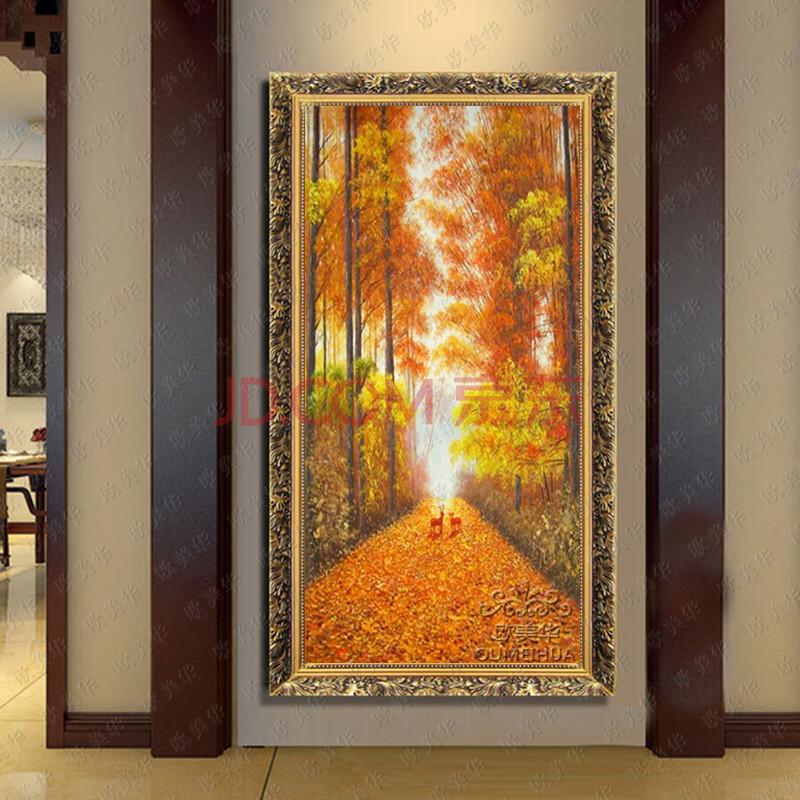 欧美华手绘油画 古典风景【黄金大道】有框油画 欧式壁画 客厅 卧室