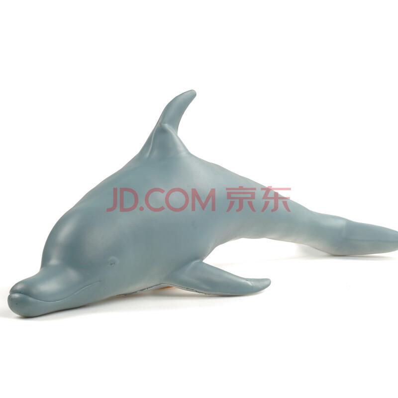 仿真大号鲨鱼玩具 可爱海豚静态模型 儿童海洋动物模型玩具礼物 送给