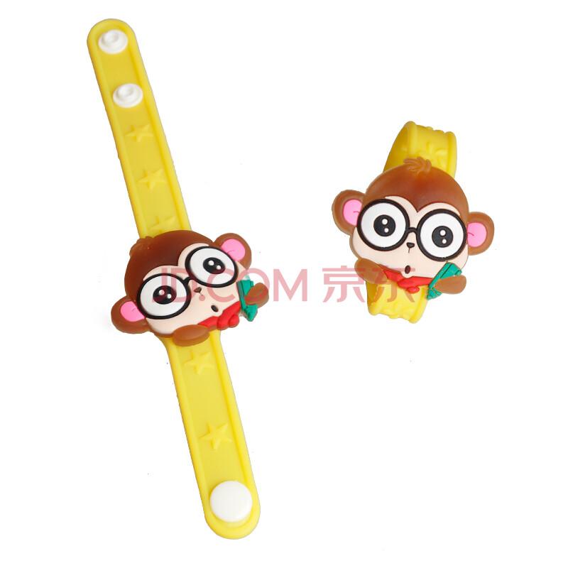 手腕上涨猴子_儿童发光卡通可爱手表 夜光玩具 闪光手腕带荧光棒 猴子