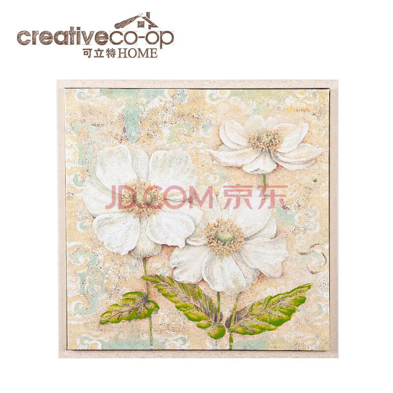 可立特 美式乡村帆布手绘花卉油画 装饰挂画 客厅卧室壁画 装饰画