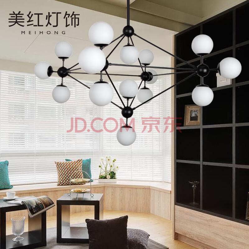 简约创意个性美式led餐厅客厅复古工业铁艺玻璃吊灯