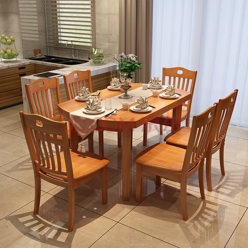 实木餐桌 餐桌椅组合 实木伸缩折叠餐桌椅 饭桌 餐台 方桌 圆桌 608