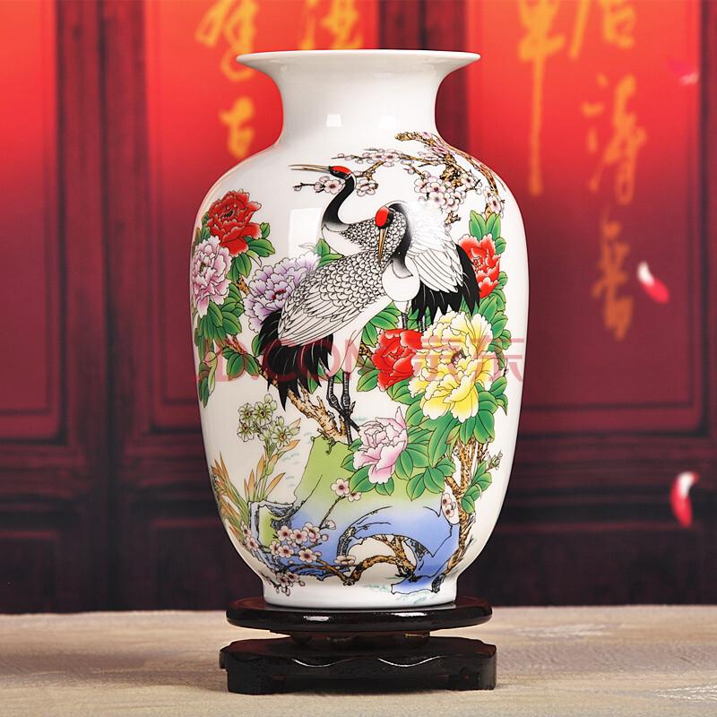景德镇陶瓷器 热卖小号古典粉彩瓷花瓶工艺品摆件装饰