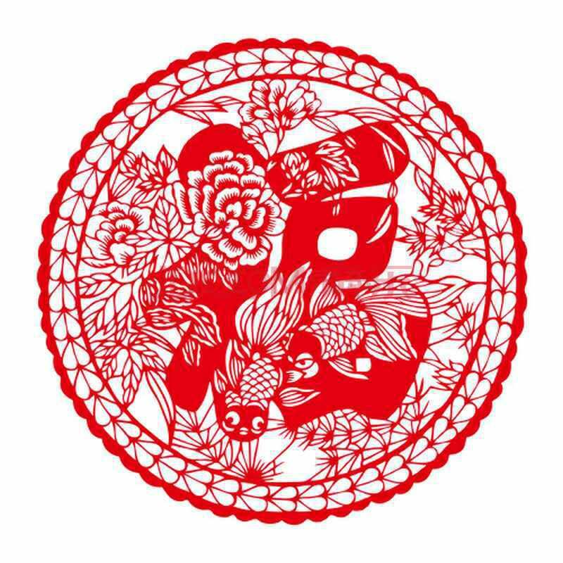 个性一百福满人间dak0707中国传统手工剪纸窗花马年不