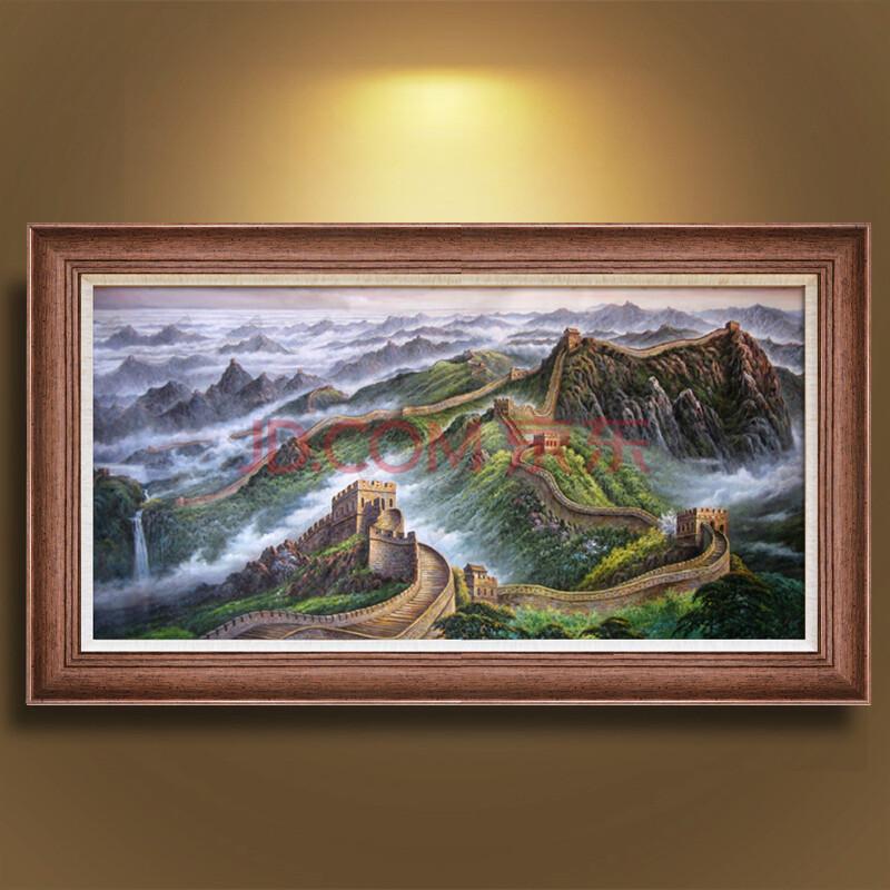 客厅大幅挂画手绘风景画