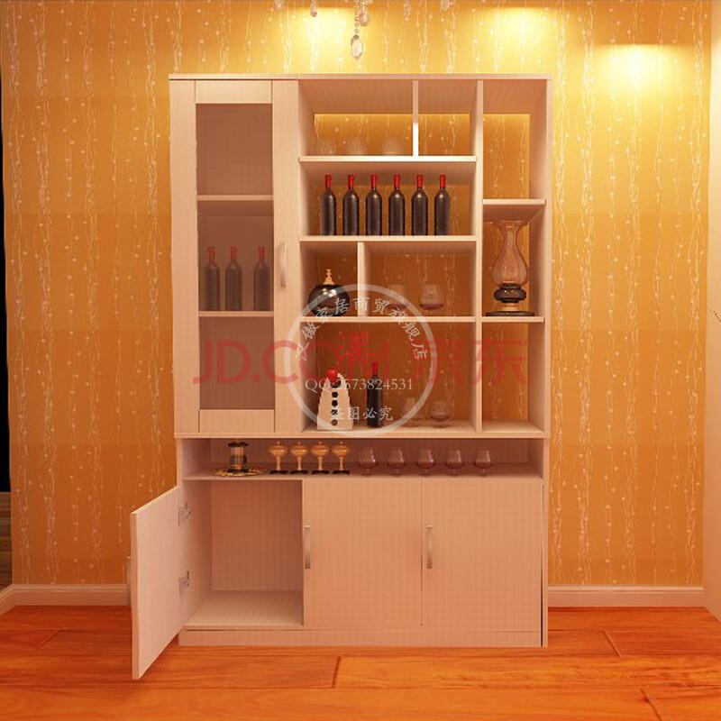 汉傲家具 现代简约酒柜四门白色可定制厂家直销储物柜隔断柜柜子包邮