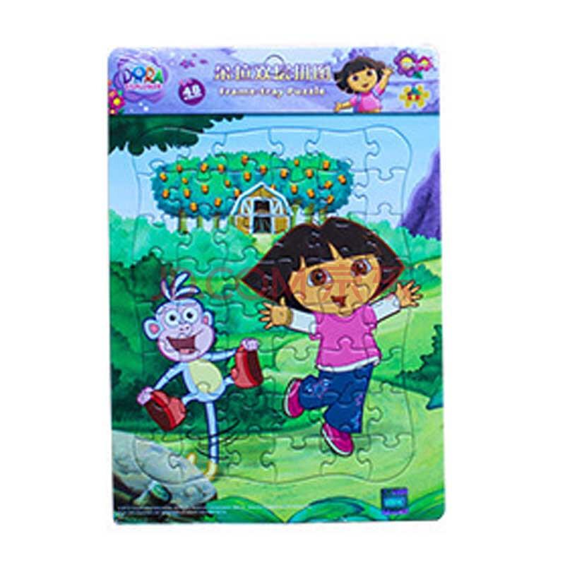 玩具堡diy拼图 可爱精灵朵拉儿童益智双层拼图48片 幼儿园早教手工
