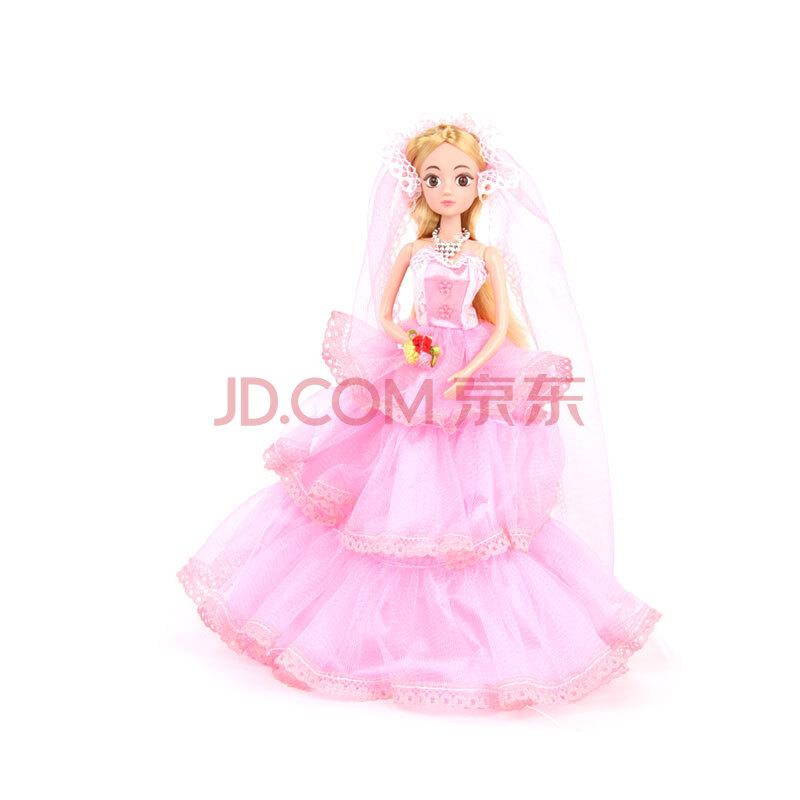 娇儿婚礼洋娃娃 玩具结婚送礼娃娃甜甜屋 可爱公主摆设 女孩玩具 梦幻