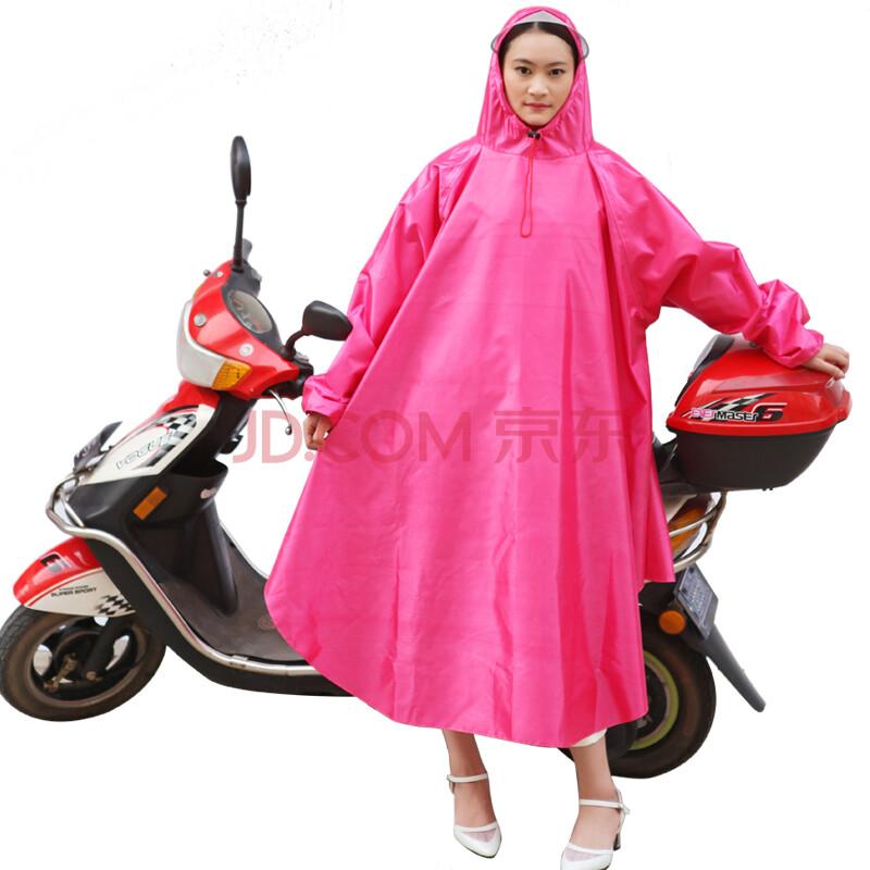 龙豹l-3900单电动车托车有袖雨披透明帽檐防