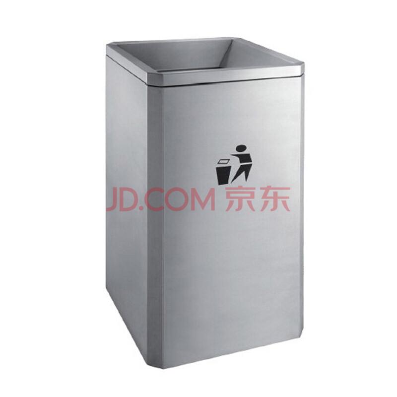 方形商场不锈钢垃圾桶大垃圾筒敞口落地果皮桶地铁箱