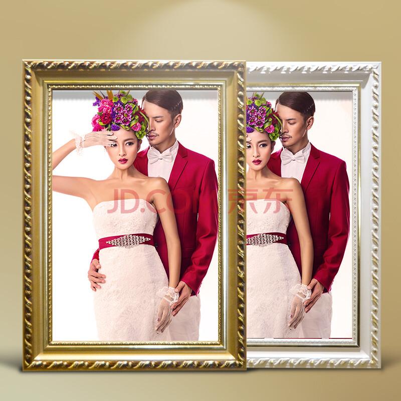 梓晨 实木相框欧式挂墙12 16 20 24 30寸婚纱照相框 儿童创意摆台画框图片