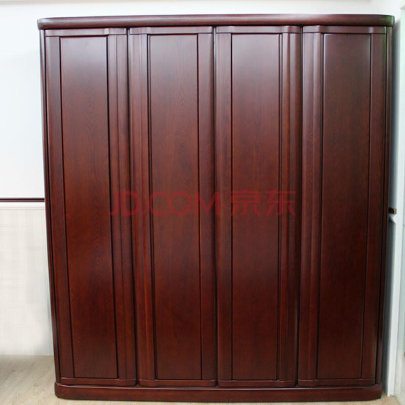 门三门四门实木衣柜现代中式实木家具新中式卧房家具 a款(辅料橡胶木)