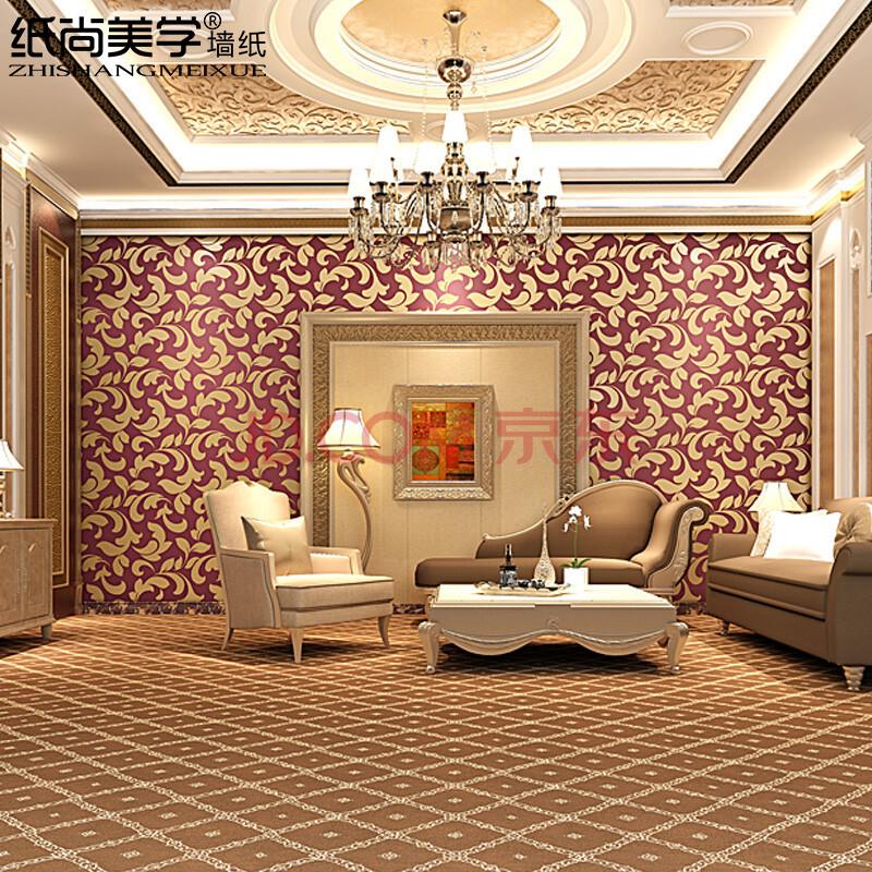金色欧式花纹墙纸