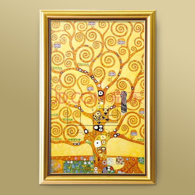 欧式手绘油画客厅装饰画玄关壁画挂画克里姆特