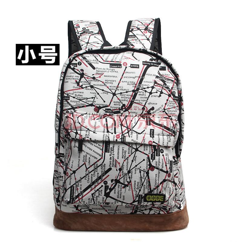 时尚潮街头嘻哈涂鸦双肩包图片
