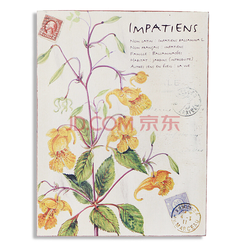 你可居 法式乡村 田园花卉做旧植物无框画 木板画壁画图片