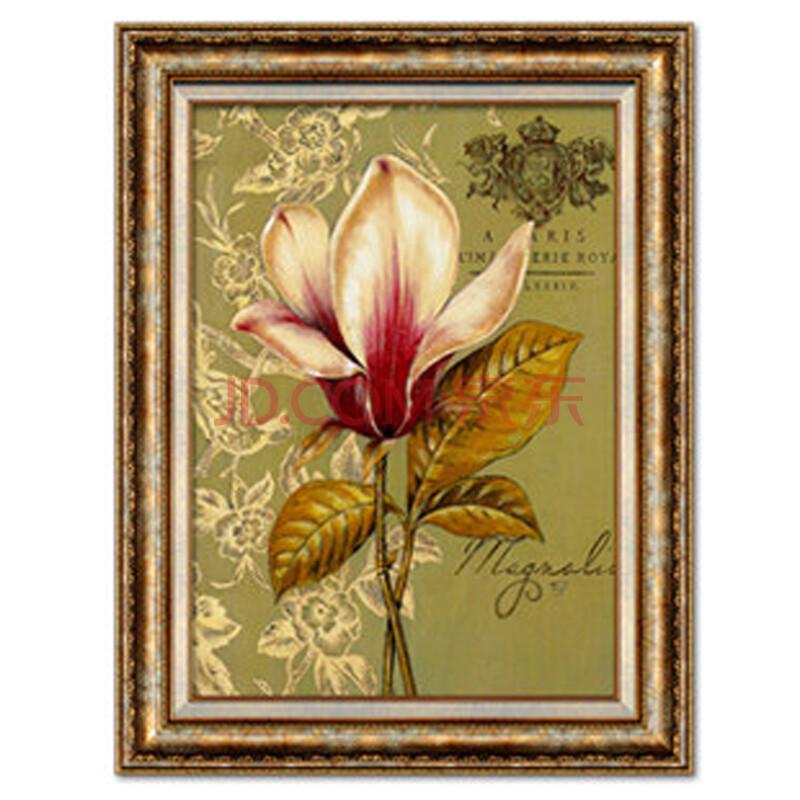 尚尚木莲 高档美式欧式客厅餐厅玄关花卉装饰画挂画壁画 d45 单幅价 m图片