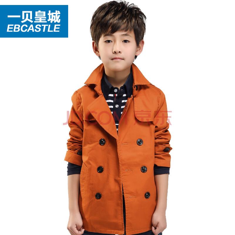 韩版外套男童中长款风衣