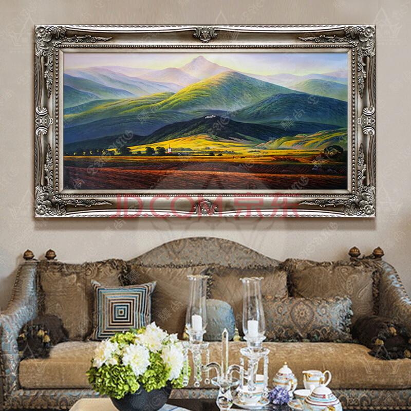 驿尚 欧式风景油画手绘油画大卫巨人山名画沙发墙样板