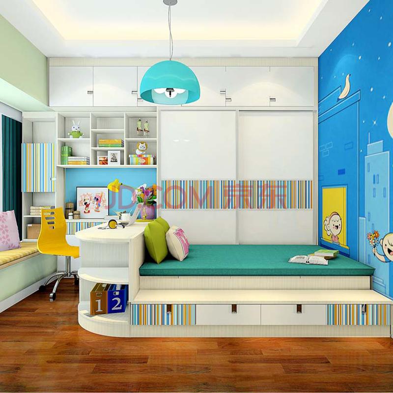 尚品宅配 全屋家具定制 榻榻米儿童床 衣柜 书桌 书柜