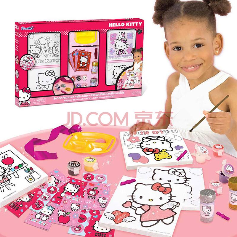 hello kitty凯蒂猫手绘画框儿童填色画彩笔绘画工具套装