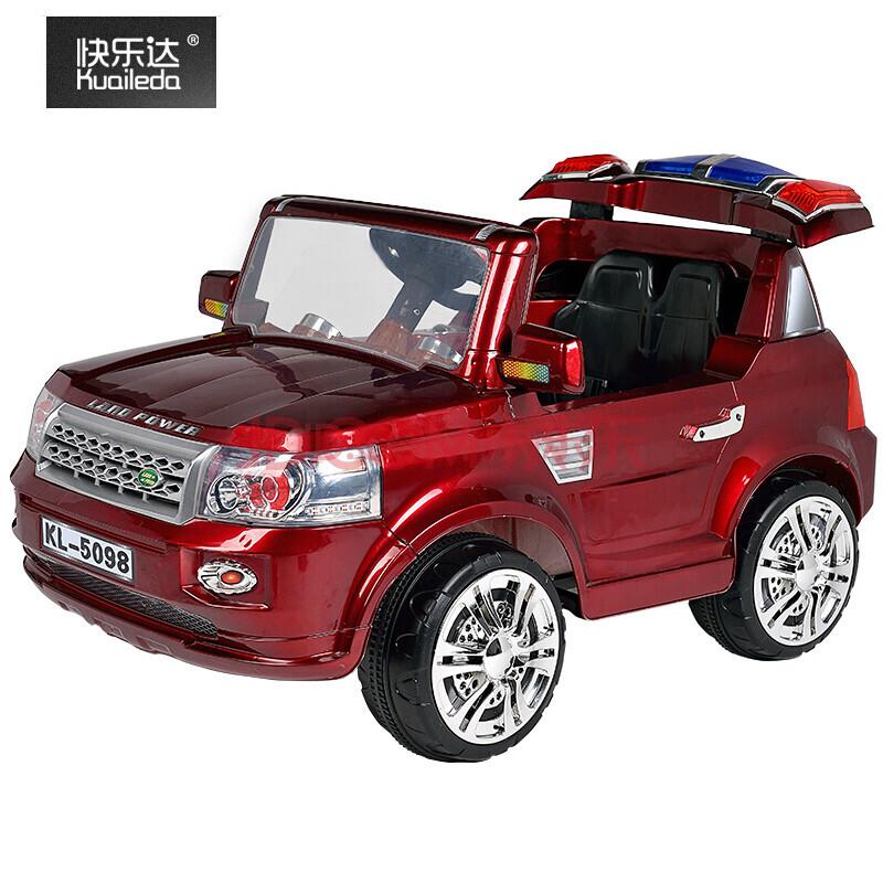 快乐达路虎儿童电动车可坐玩具车宝宝四轮可遥控双驱