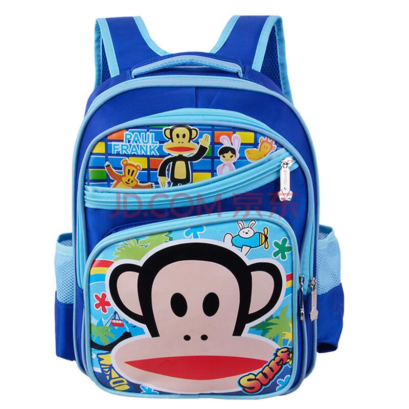 书包男女小学生可爱卡通书包男生大嘴猴书包kt猫女生书包683# 浅蓝色