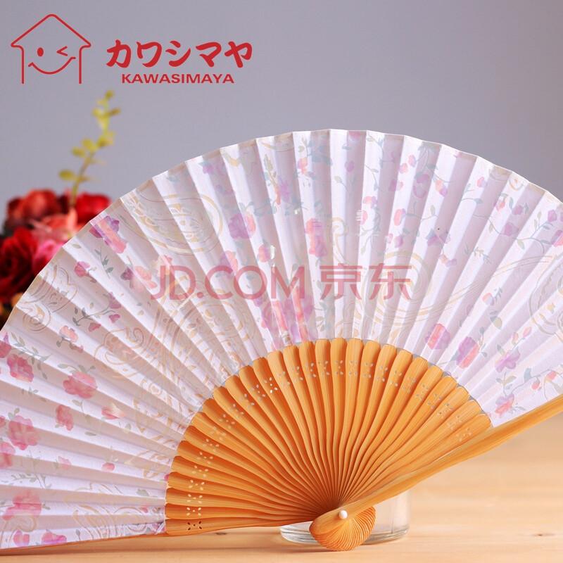 川岛屋 日式浪漫镂空花纹折扇 日式工艺女扇 扇子715
