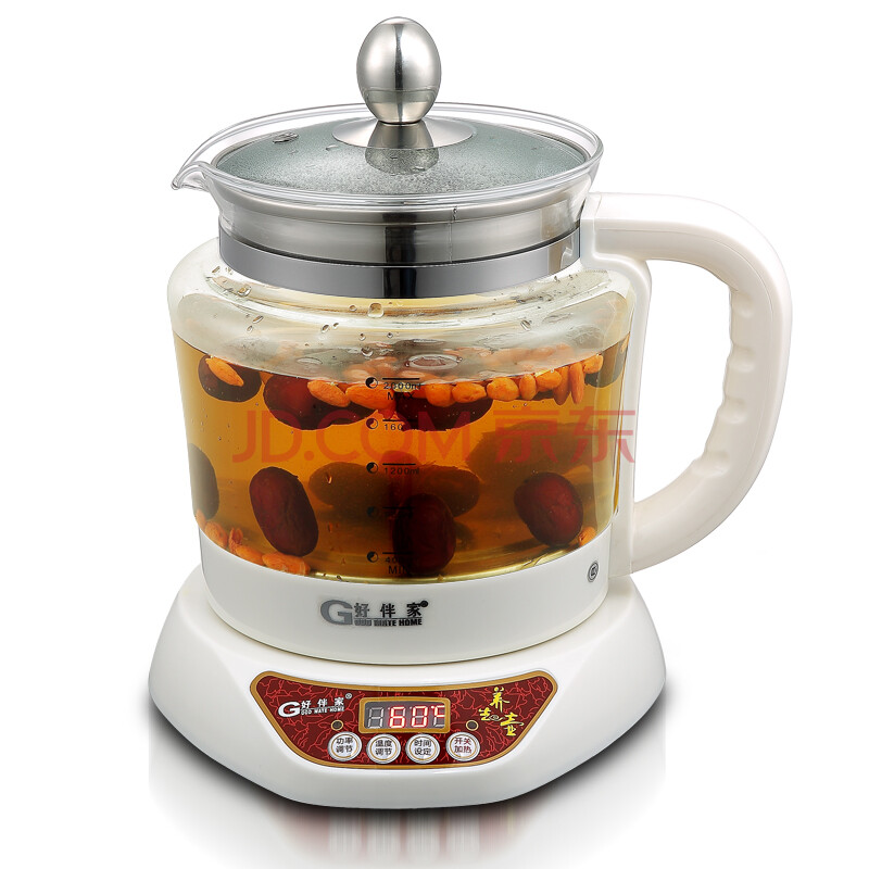 好伴家 煮水果茶壶 保温电热水壶 电煮茶壶 白色 壶
