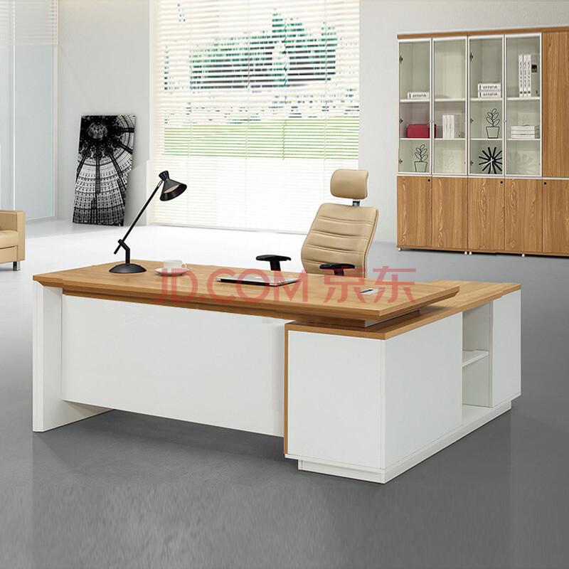 诩弈上海办公家具老板桌单人办公桌椅简约现代总裁桌 (800x800)-