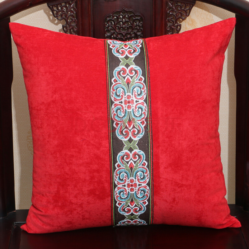 艺必旭新中式中间一条欧式拼条沙发抱枕靠垫床头靠枕办公汽车午睡枕护图片