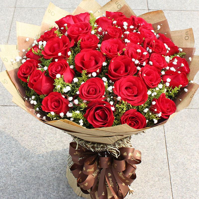 维纳斯鲜花速递生日礼物鲜花礼盒 康乃馨百合花玫瑰花束北京上海深圳图片