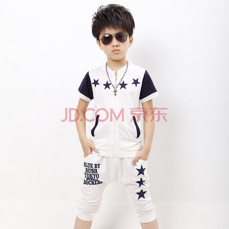 袖短裤套装儿童运动服装