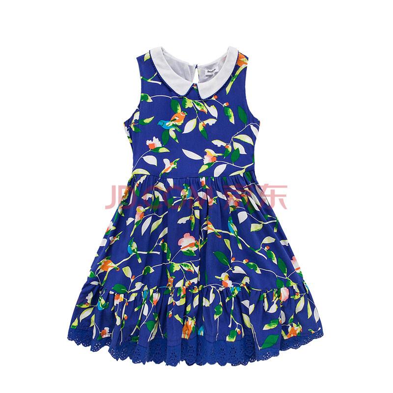 巴拉巴拉balabala 女童印花无袖连衣裙 童装碎花裙子淑女 28112140211图片