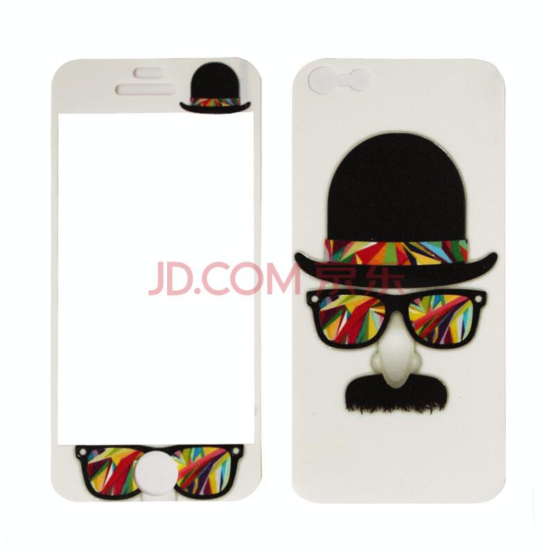 柏拉兔适用于iphone5手机贴膜苹果5彩膜iphone5s手机
