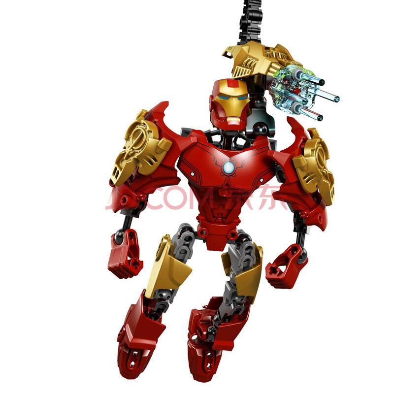 活石 漫威英雄美国队长钢铁侠蜘蛛侠复仇者联盟拼装玩具人偶 变形金刚图片